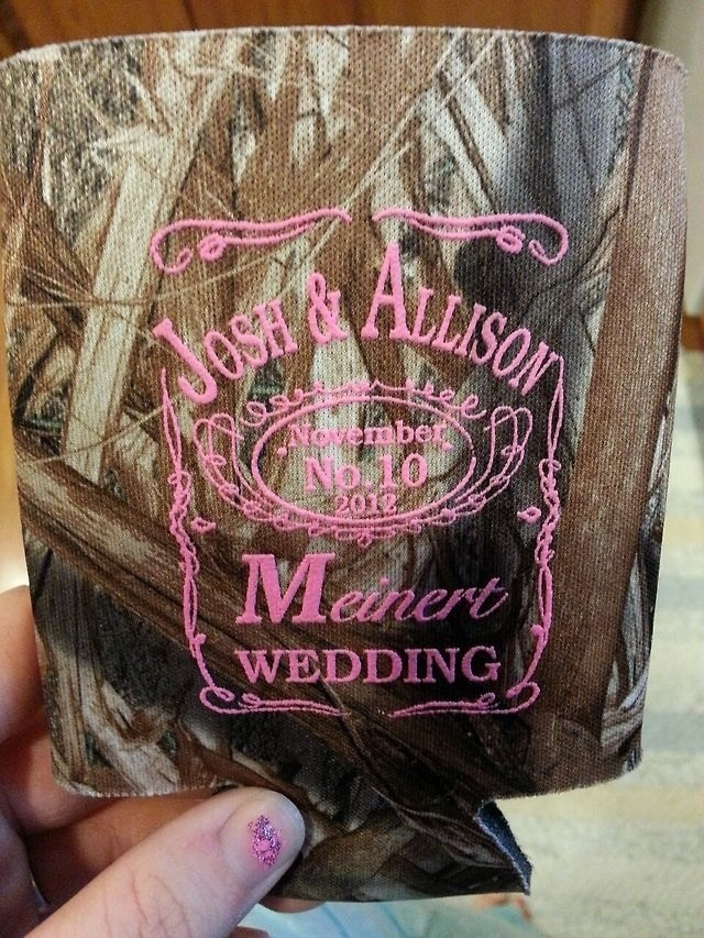 Wedding Coozie   For My One Day Country Wedding.
