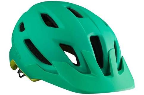 #Bontrager Quantum Helmet with MIPS > Green - M #The incredibly easy-to use Quantum bike helmet is your go-to lid no matter what type of riding you like to do thanks to great ventilation, excellent coverage and Bontragers signature comfort. A removable visor adds to the value of a helmet that feels just as at home on the trail as it does on the road.