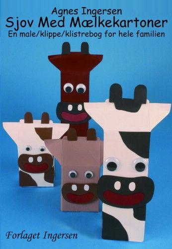 Giraf af mælkekarton | Agnes´ kreative univers