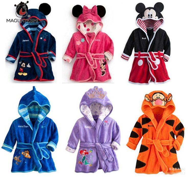 Kinder Pyjamas Robe Kinder Kleidung Jungen Mädchen Micky Minnie Bademäntel Baby Cartoon Flanell Nachtwäsche Kleinkind Kleidung