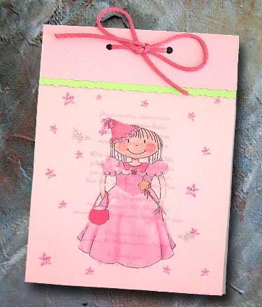 Προσκλητήριο για βάπτιση Παραλληλόγραμμο Με ΘέμαΠριγκίπισσα. Βάπτισης Προσκλητήριο Παραλληλόγραμμο κατασκευασμένο από χαρτί Ροζ με σατέν κορδονάκι σε φούξια χρώμα με Ροζ φάκελο για προσκλητήρια. http://www.prosklitirio-eshop.gr/?308,gr_sweetness-23196