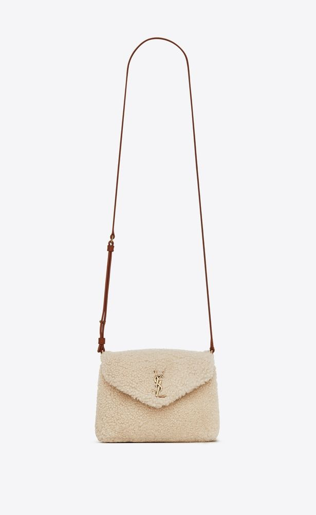 fcd32e3064 SAINT LAURENT Mini bags Loulou Woman Loulou toy bag in beige shearling a V4