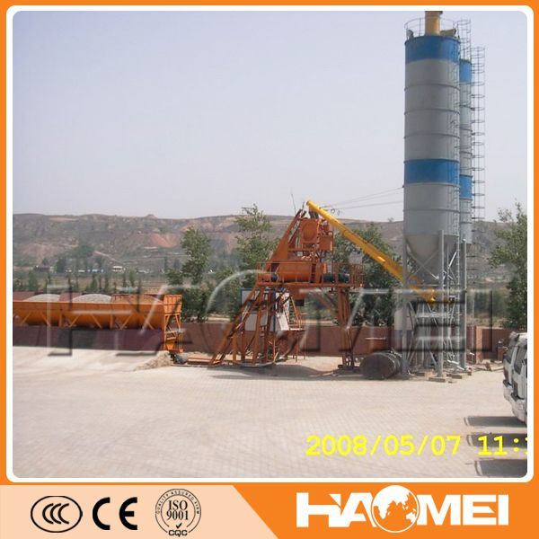 CE certificated ready-mixed concrete mixing plant 50m3/h price It enjoys the benefits of small footprint and simple structure. Being the ideal equipment for ready-mixed concrete, such as dry, rigid, plastic and all kinds of concrete proportion, it is widely used in the hydropower project, airports, roads, bridges and other small and medium scale construction projects and commoditiesconcrete production etc. http://batchingplantng.com/concrete-batching-plant/hzs50-concrete-batching-plant-sale.