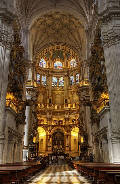 The cathedral in Granada, Spain