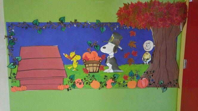Snoopy Thanksgiving bulletin board