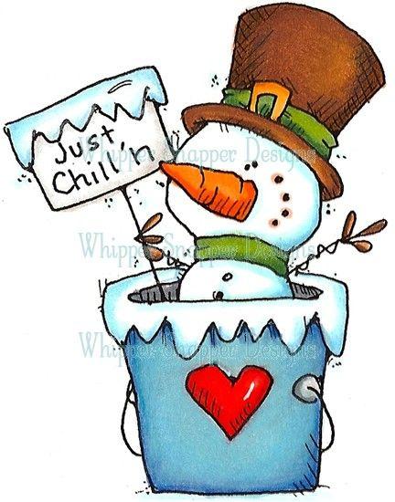 Just Chillin' Snowman