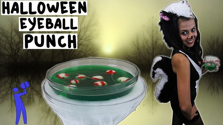 How to make Halloween Eyeball Liquid Marijuana Punch - Tipsy Bartender