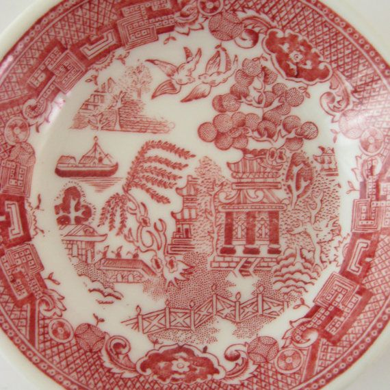 Vintage Restaurant Ware Fruit Bowls Jackson China Asian Red Willow Chinese Restaurant Dishes & 33 best Blue and Red Willow Dishes images on Pinterest | Dishes ...