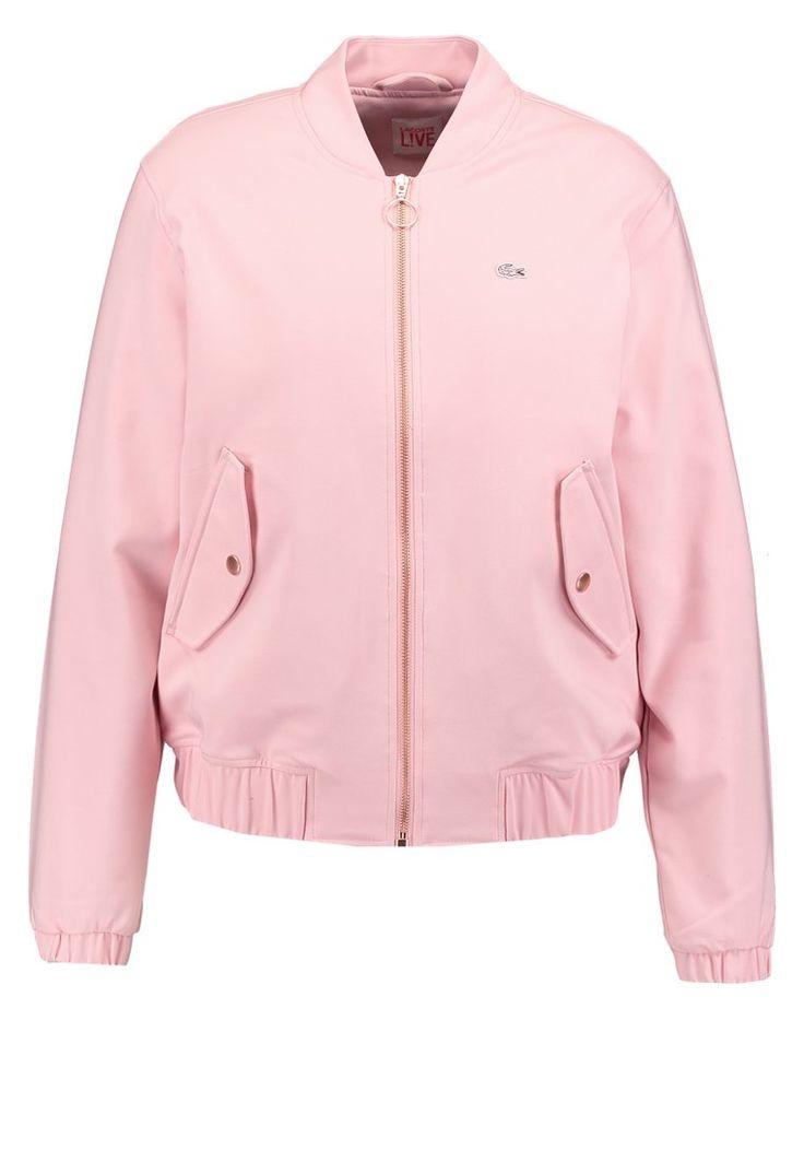 Lacoste LIVE Kurtka bomberka jasna różowa rose bush soft pink bomber jacket