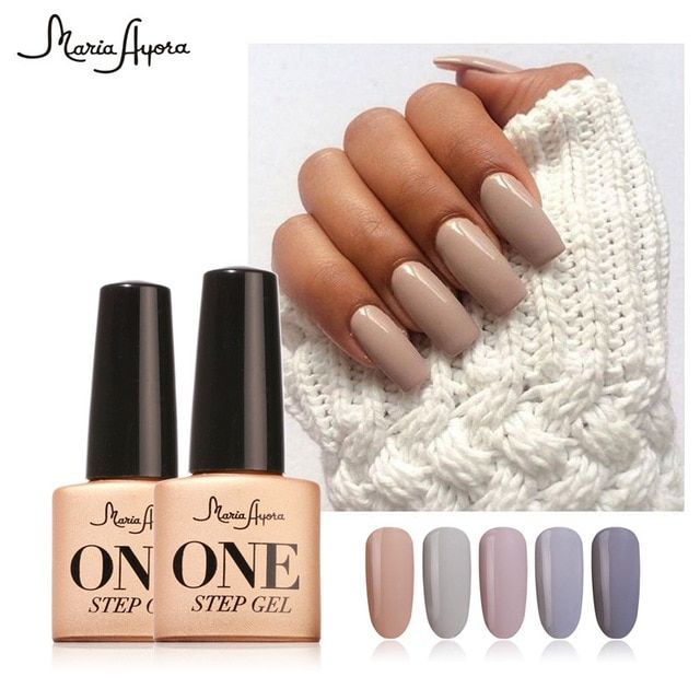 Maria Ayora One Step Nail Gel 7ml Long Lasting Led Uv Lamp Nail Gel Polish Lacquer Varnish No Base Top Coat Gel N Gel Nail Polish Gel Polish Nail Art Gel Nails