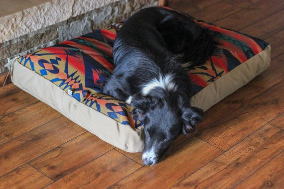 Southwestern Dog Bed // Western Dog Bed // by WildHoundOutfitters