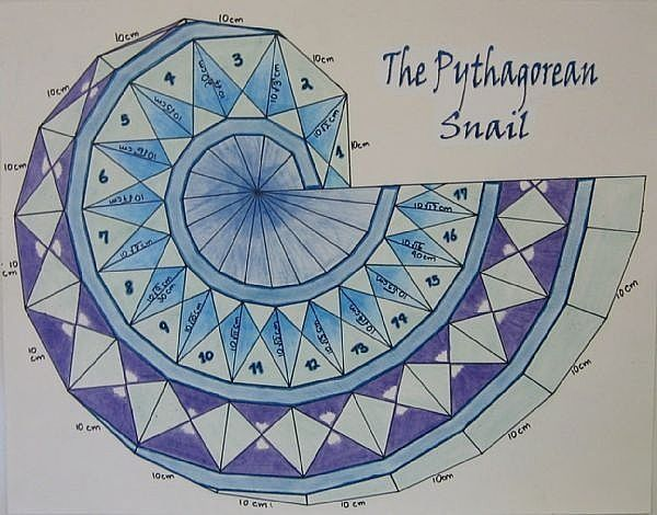 """Pythagorean Spiral, 28.5"""" x 21""""    This quilt was inspired, imagined, created and quilted last month between everything else I did. But i..."""
