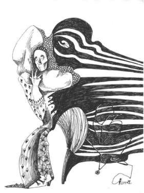"Saatchi Art Artist Ioana Serban; Drawing, ""Illustration for Eminescu (3)"" #art"