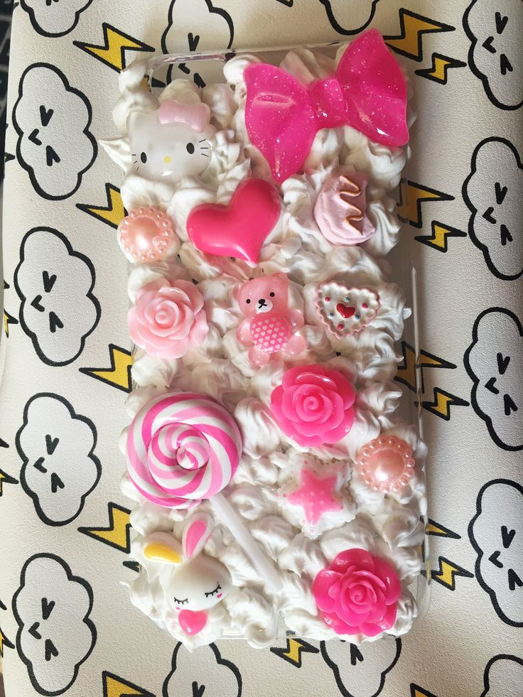 Kawaii Decoden iPhone cases available at my store!