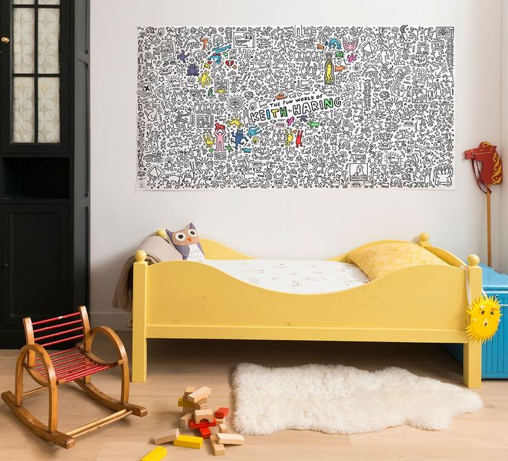 Poster géant à colorier Keith Haring