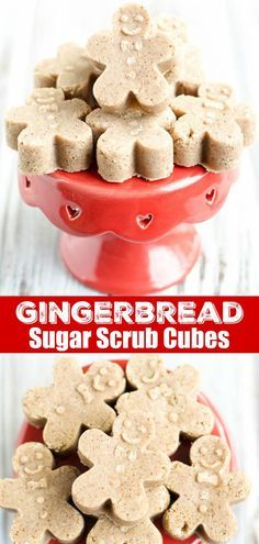 diy gingerbread suga diy gingerbread sugar scrub cubes exfoliate rh pinterest com