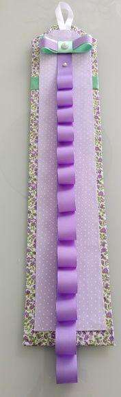 Porta tiaras lilás com verde