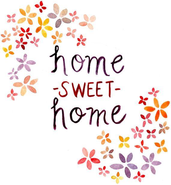 Home Sweet Home Printable - Etsy - Little Pond Prints
