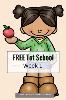Free Tot School! Week one! Come check it out!