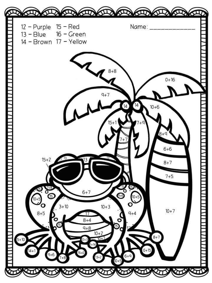 81 best ideas about summer math on pinterest math coach for Summer themed coloring pages
