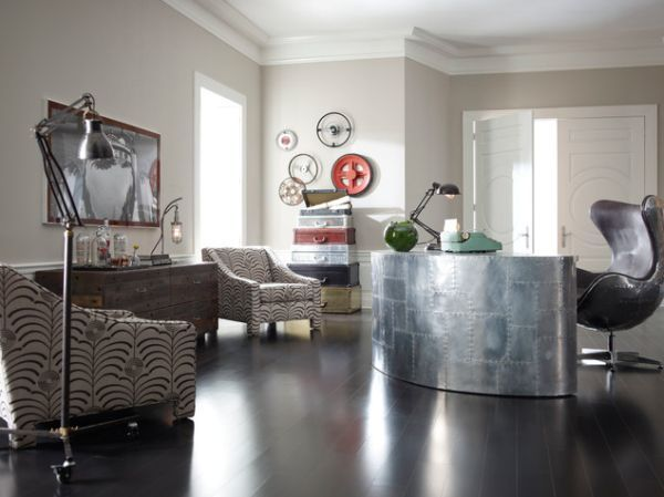 Metal is a material usually employed in industrial style decors. Best 25  Industrial home offices ideas on Pinterest