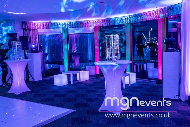 """The Only Way Is Essex themed party with a live band, disco and lots of bubbly at North Hants Golf Club in Fleet - """"Reem"""" (as they say in Essex!) venue for parties and weddings  🎉 Contact us to plan your special event! #TOWIE #PartyByMGN #PartyIdeas #CoolDecor #PartyPlanners #LEDLighting #Entertainment #PartyPlanning #Essex #GolfClub #50thBirthday #50thParty #Reem #TotesWellJell #Fleet #LEDCubes #PartyFurniture #Gobo #Uplighters #PoseurTables"""