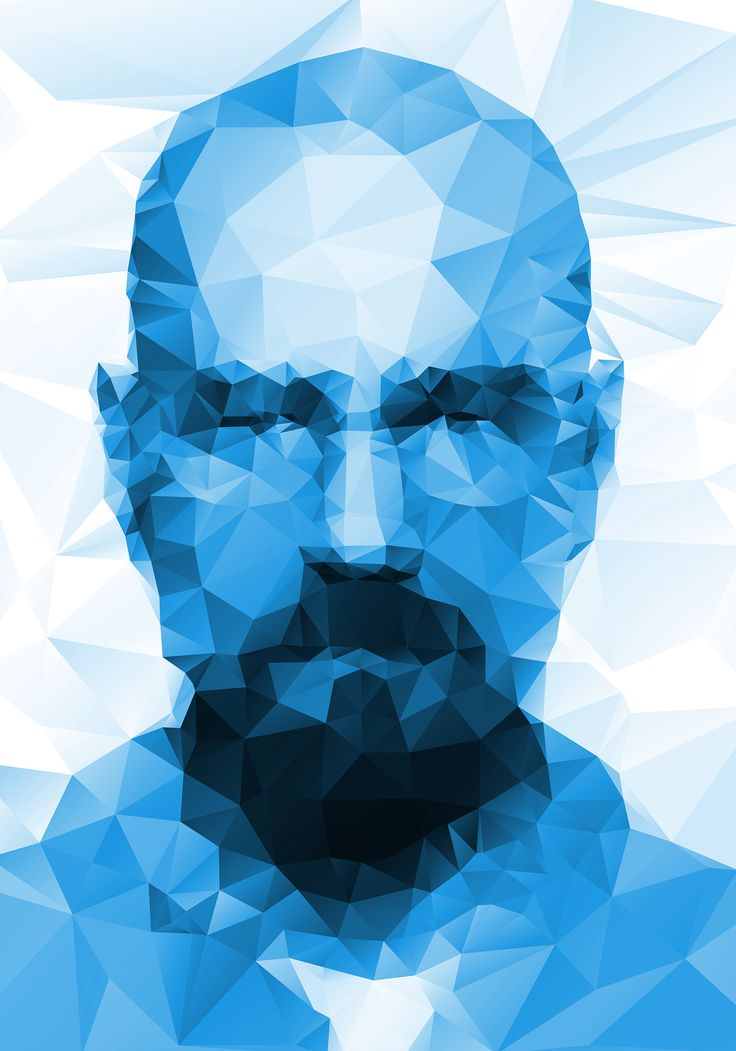 I AM THE ONE WHO KNOCKS breaking bad  HEISENBERG Walter White Illustration design; polygon