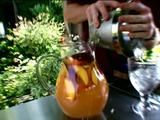 White Peach Sangria...a must when peaches are in season. Absolutely delicious! Courtesy:Bobby Flay