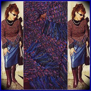 uncinetto moda e fantasia:  maglione tipo Missoni in fili fantasia e seta, la...