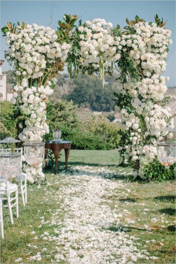decorating ideas for outside wedding ceremony%0A    Prettiest Floral Wedding Arch Decoration Ideas