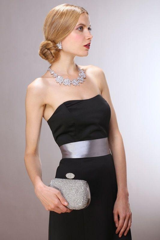 Black Dresses and Evening Bag