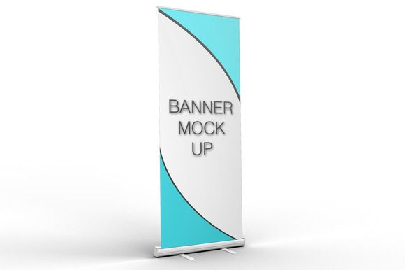 Pull-Up Banner Stand Mock-Up by mock_up_store on Creative Market