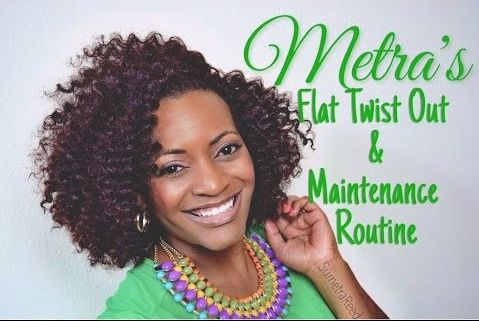 A post featuring Sumetra who demonstrates the flat twist technique as well as how to style and maintain it.