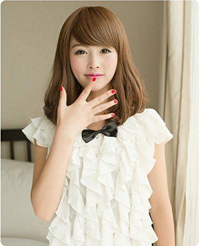 Amazon.co.jp: 耐熱 高品質 フルウィッグ ミディアムボブ ブラウン 2種類のウイッグ用ネットとセット 栗色: ヘルス&ビューティー