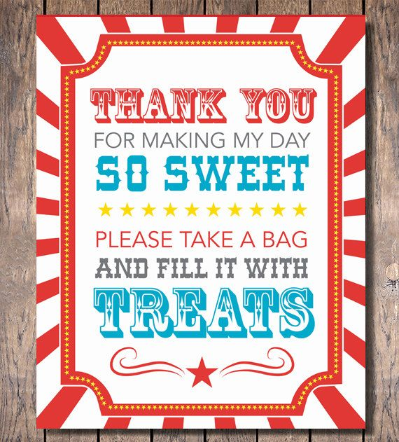 Carnival Party Candy Buffet Sign Instant by LookandSeaCreative, $6.00