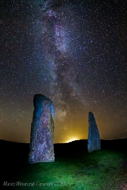 Orkneys Ring Of Brodgar At Night Sacred Stone Circles Runes Standing Stones