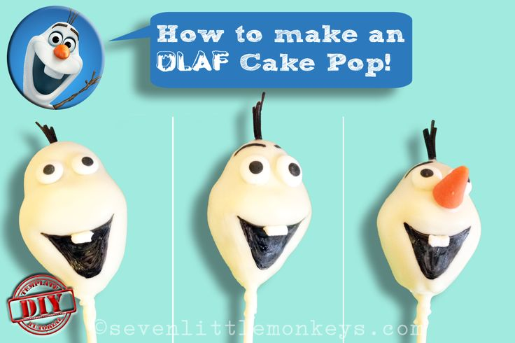 This is such a great step-by-step tutorial on how to make Olaf cake pops! #DisneyFrozen #Olaf http://sevenlittlemonkeys.com