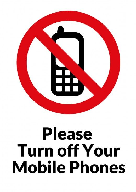 Theatre Audience Etiquette Drama No cell phone sign, Free cell
