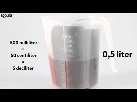 Squla uitlegfilmpje: rekenen met inhoud (liter, deciliter, centiliter, milliliter) (groep 5) - YouTube