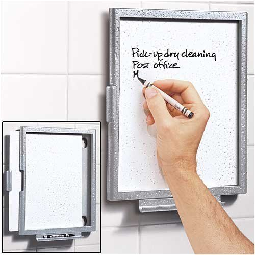 Erasable Shower Note Tablet because the best ideas occur in the shower