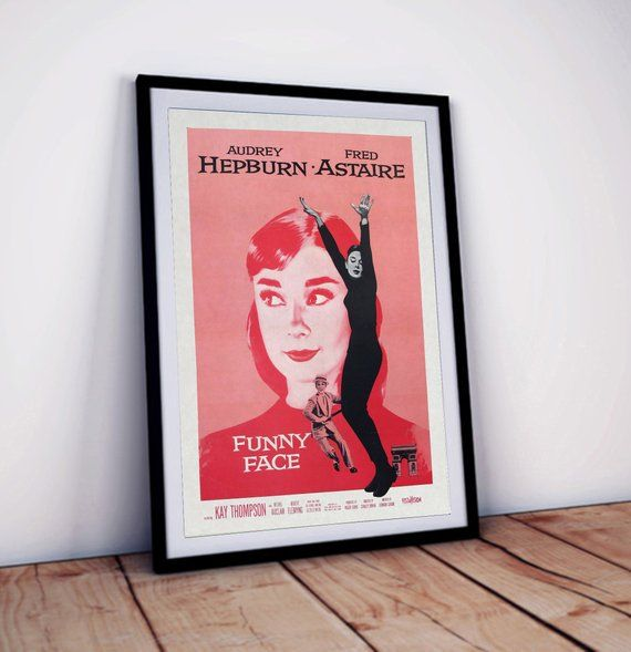 Audrey Hepburn Funny Face Vintage Film Cinema Movie Poster Print Picture A3