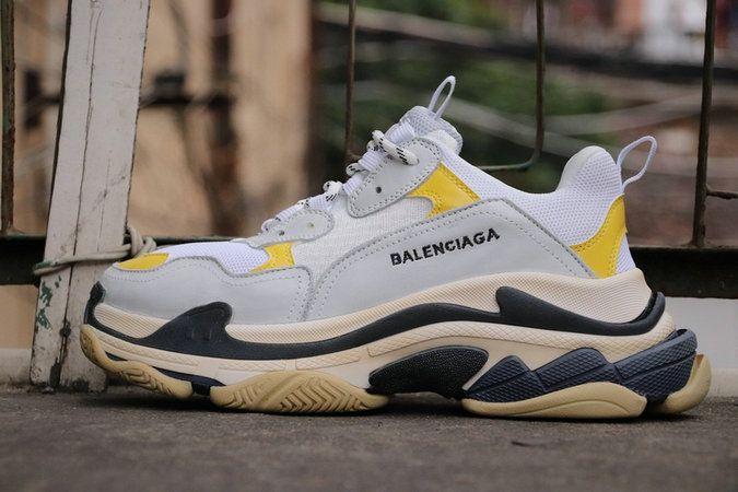 2e6a0f7aa Big Discount Popular Real Balenciaga Triple S Cream White Yellow ...
