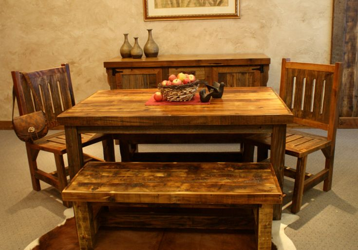 Rustic Farmhouse Dining Room Table Sets: 172 Best Images About Western Decor On Pinterest