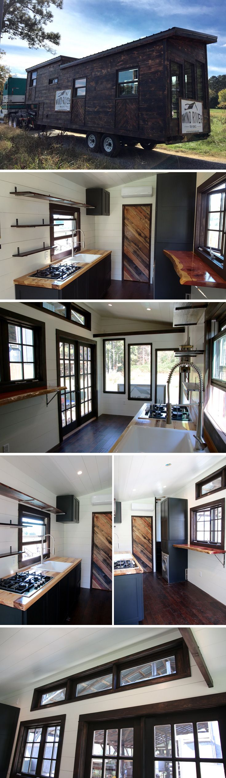 Small homes interior - A Gooseneck Tiny House With A Shou Sugi Ban Cedar Exterior The Interior Continues The