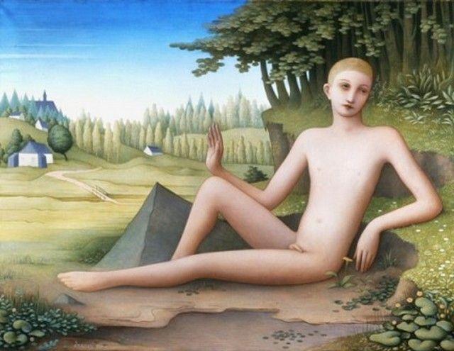 Jan Zrzavý - Youth (1924) #art #Czechia #painting