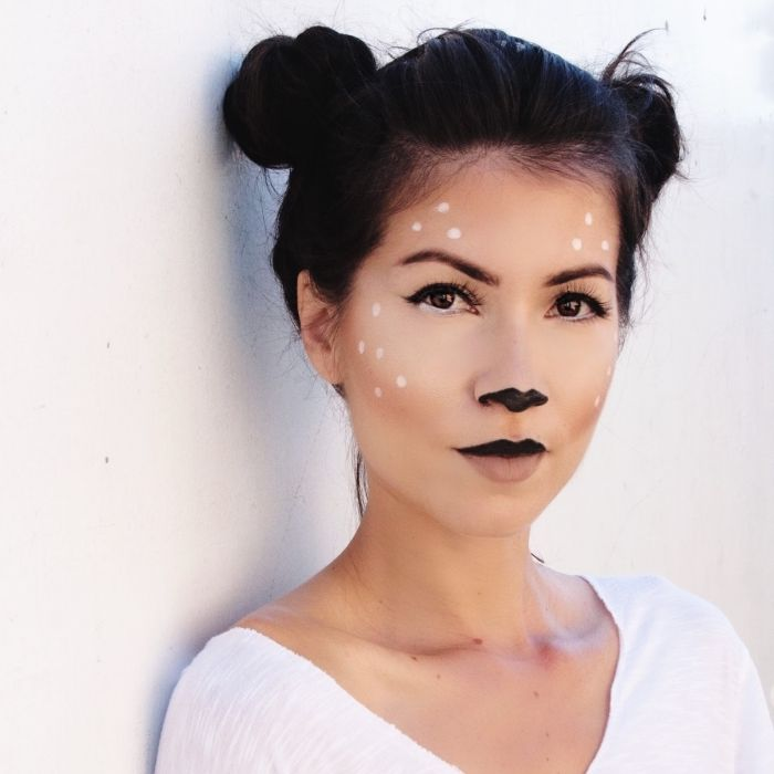 ▷ 1001 + creative ideas for a simple Halloween Make Up