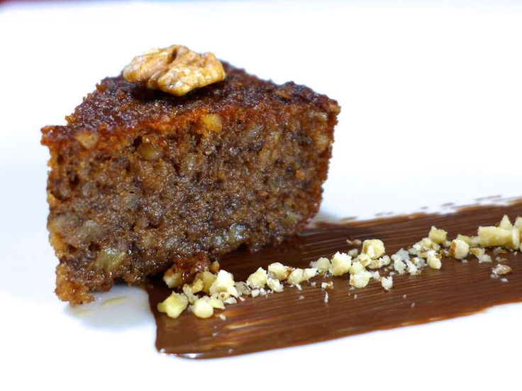 Karidopita/Karithopita recipe (Greek Walnut Cake with Syrup) *replace breadcrumbs with ground almonds & cut syrup in half