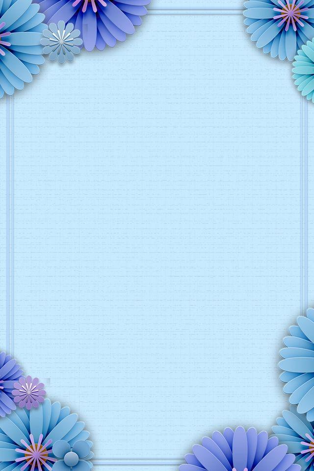 Blauer Blumenrahmenrahmenhintergrund Flower Background Wallpaper Purple Butterfly Wallpaper Abstract Iphone Wallpaper
