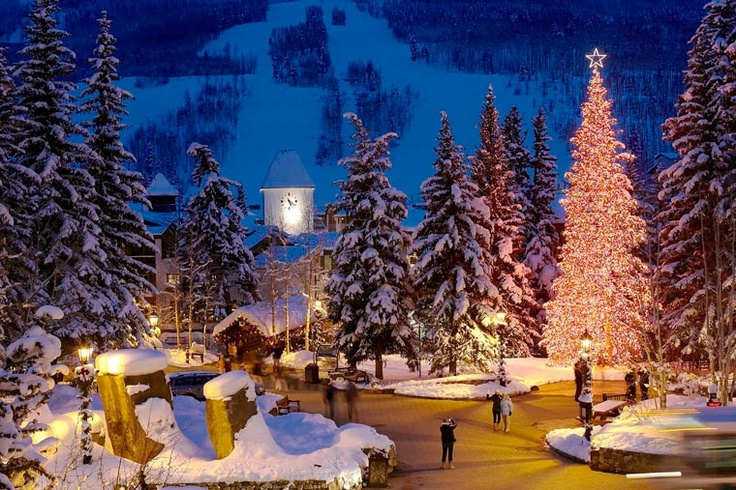 Vail, Colorado (pic from lionsquare.com)   Love this place to ski and snowboard!!