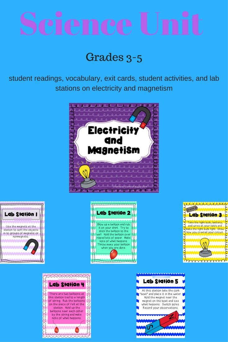 hight resolution of Students will learn about electricity and magnetism with this unit. Lab  stations